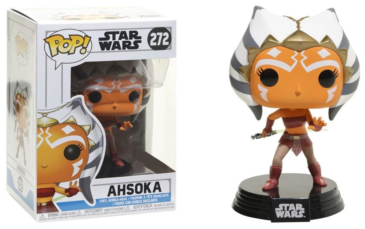 Funko Pop The Clone Wars Ahsoka #268 W//Pop Shield Star Wars