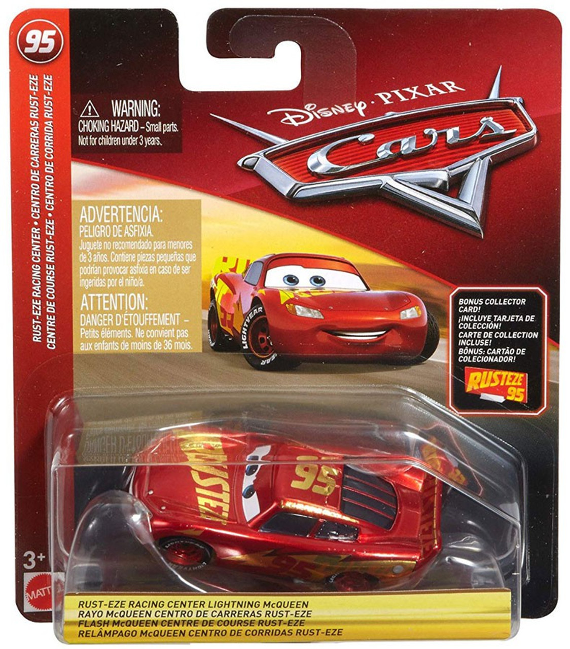 Disney Pixar Cars Cars 3 Rust Eze Racing Center Lightning Mcqueen