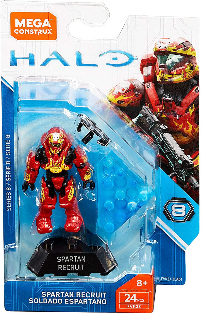 Mega Bloks Halo Construx Heroes Series 8 Spartan Recruit Mini Figure