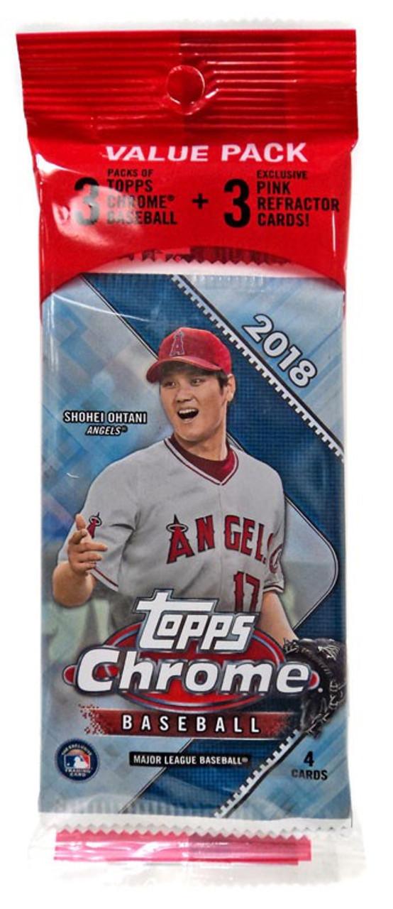 Mlb 2018 Topps Chrome Baseball Cards Trading Card Value Pack