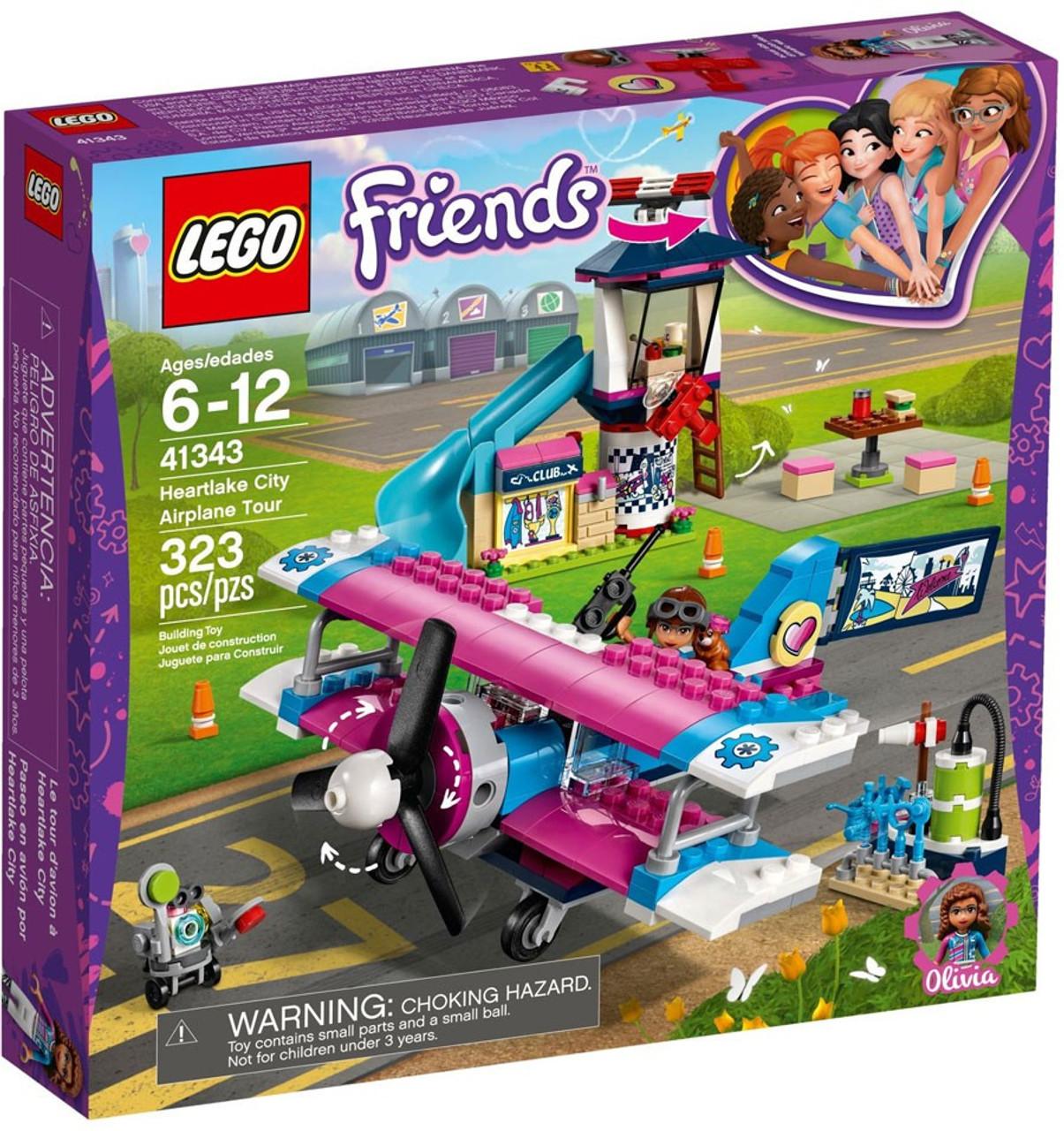 Folkekære LEGO Friends Heartlake City Airplane Tour Set 41343 - ToyWiz XW-65