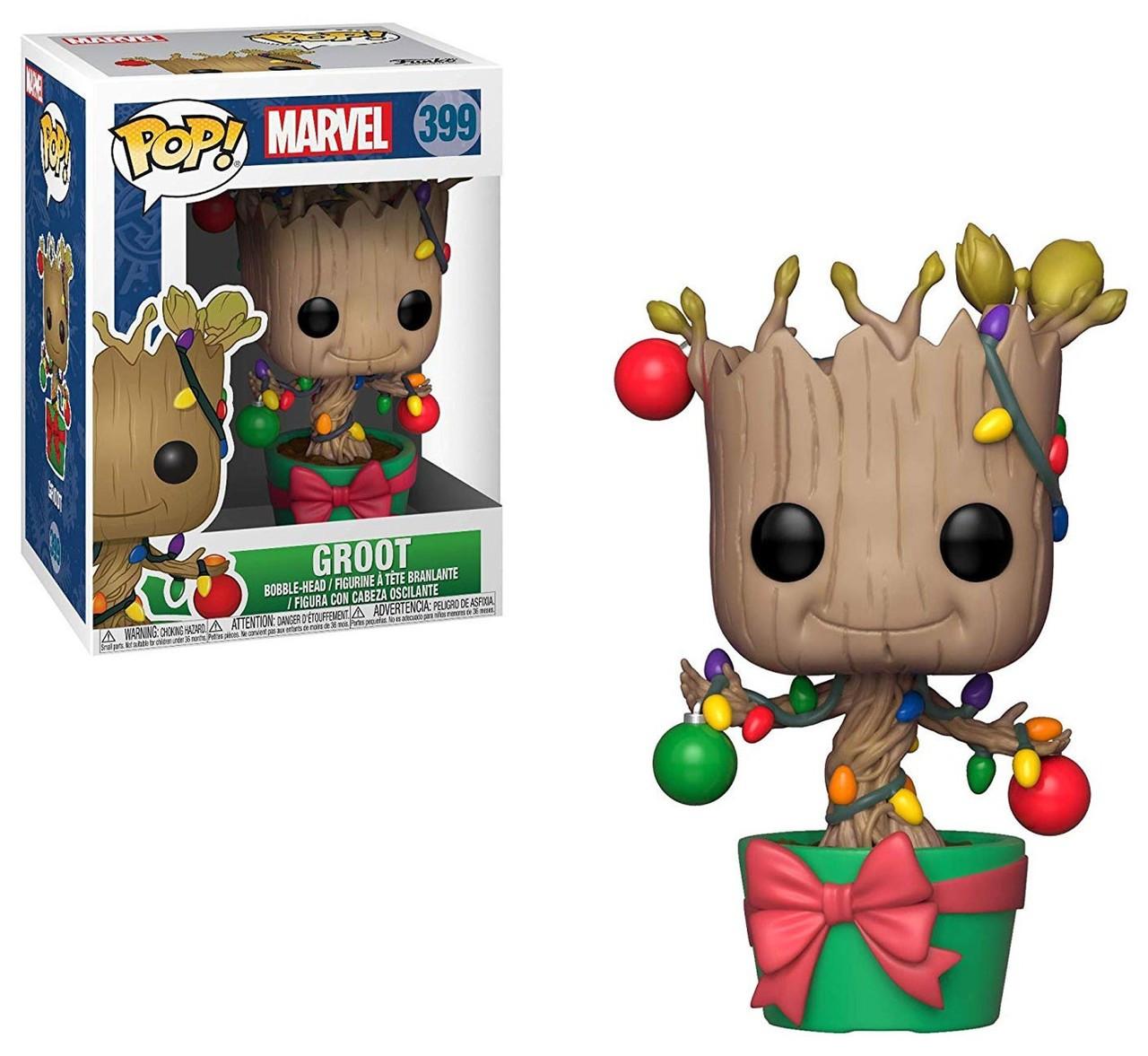 POP Marvel Holiday Dancing Groot #101 Vinyl Action Figure New GOTG Funko