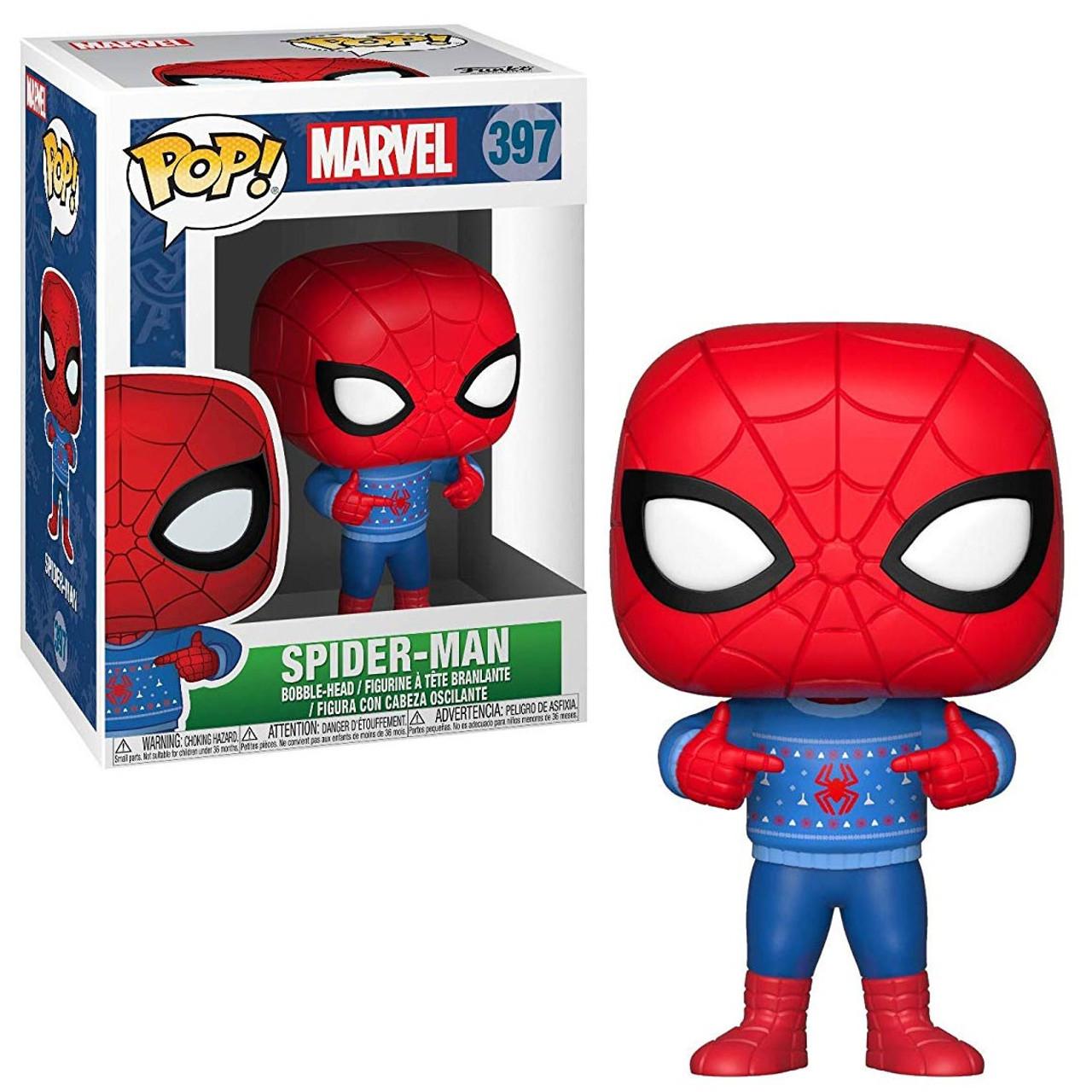 b554e42b594 Funko Marvel Universe Marvel Holiday Funko POP Marvel Spider-Man Vinyl  Figure 397 Ugly Sweater - ToyWiz