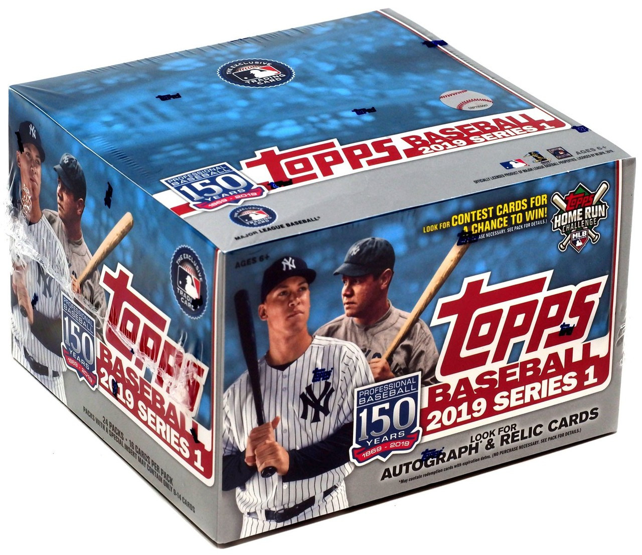 Mlb 2019 Baseball Series 1 Trading Card Box 24 Packs