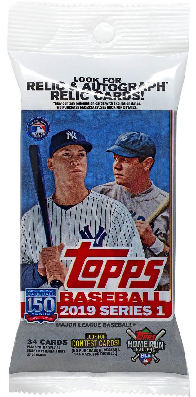 Mlb 2019 Baseball Series 1 Trading Card Value Pack