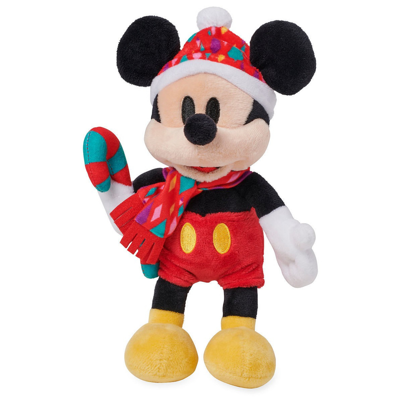 d67fff884d887 Disney 2018 Holiday Mickey Mouse Exclusive 10 Bean Bag Plush Candy Cane -  ToyWiz