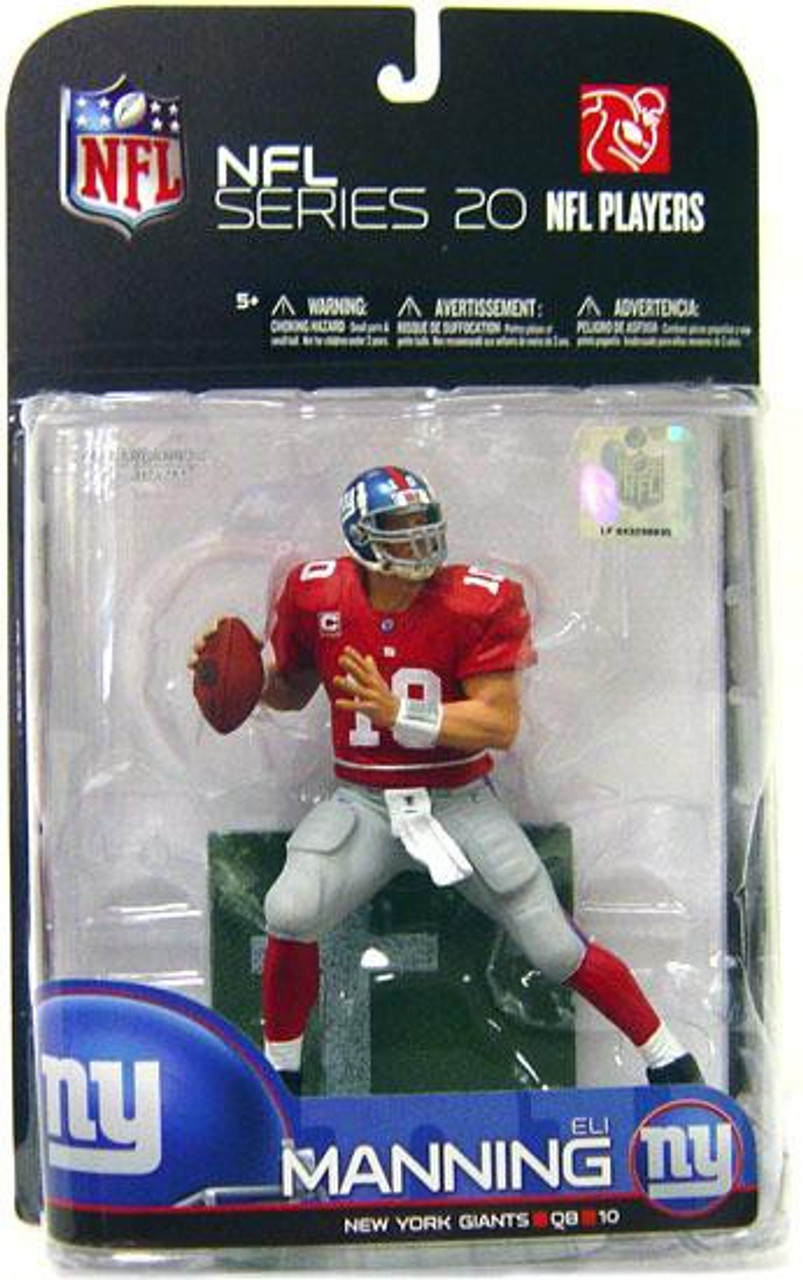 McFarlane Toys NFL New York Giants Sports Picks Series 20 Eli Manning  Action Figure [Red Jersey Variant, Damaged Package]