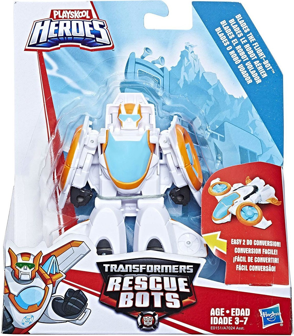Playskool Heroes Transformers Rescue Bots Rescan Blades The Flight Bot Action Fi