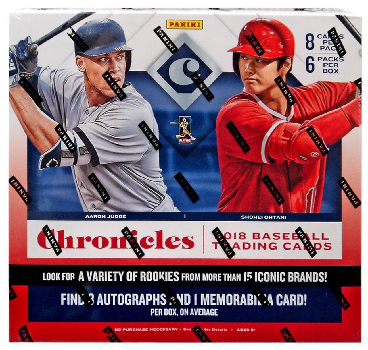 Mlb Chronicles 2018 Baseball Trading Card Hobby Box 6 Packs Panini