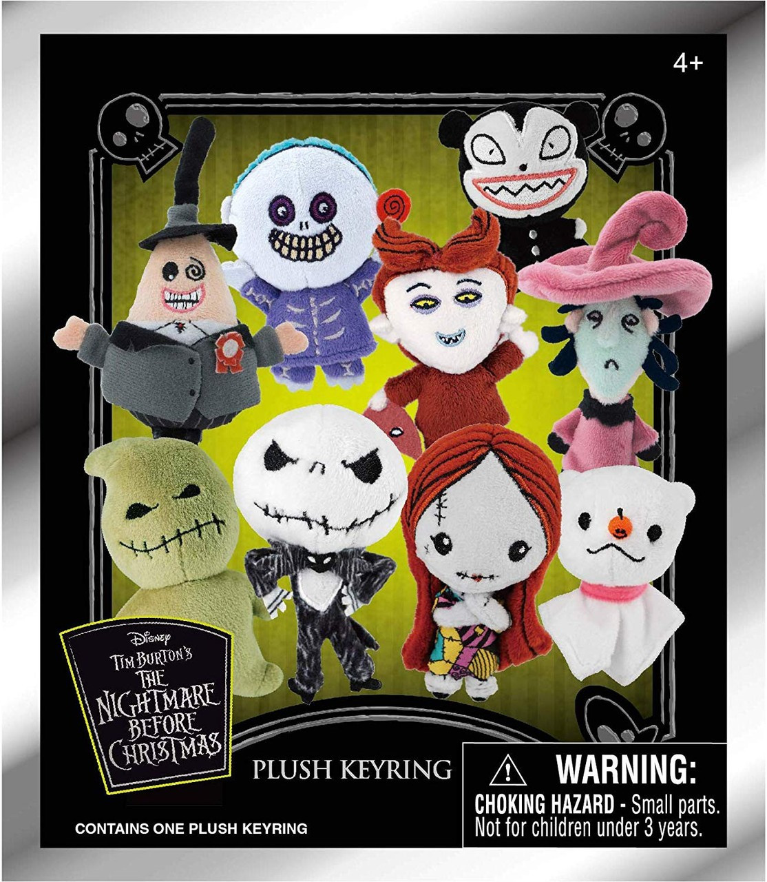 1ebfe002f3d Nightmare Before Christmas Plush Keyring NBX Series 1 Mystery Pack Monogram  - ToyWiz