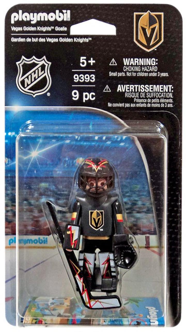83338f201 Playmobil NHL Hockey Sports   Action NHL Las Vegas Golden Knights Goalie  Set  9393