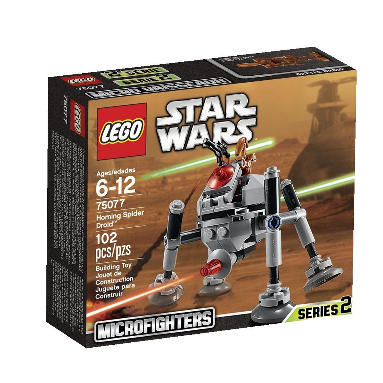 Lego Star Wars Attack Of The Clones Microfighters Series 2 Homing Spider Droid Set 75077 Damaged Package Toywiz
