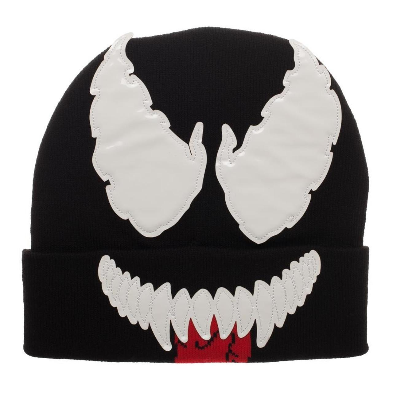 5e9294a51c5 Marvel Venom Venom Big Face Beanie Cap Bioworld - ToyWiz