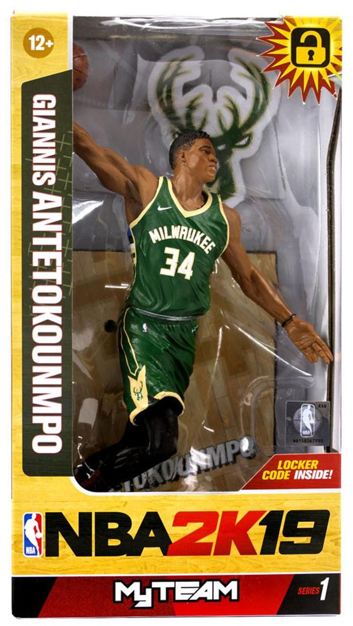 afb4ae2fdc27 McFarlane Toys NBA Milwaukee Bucks NBA 2K19 MyTeam Series 1 Giannis  Antetokounmpo Action Figure - ToyWiz