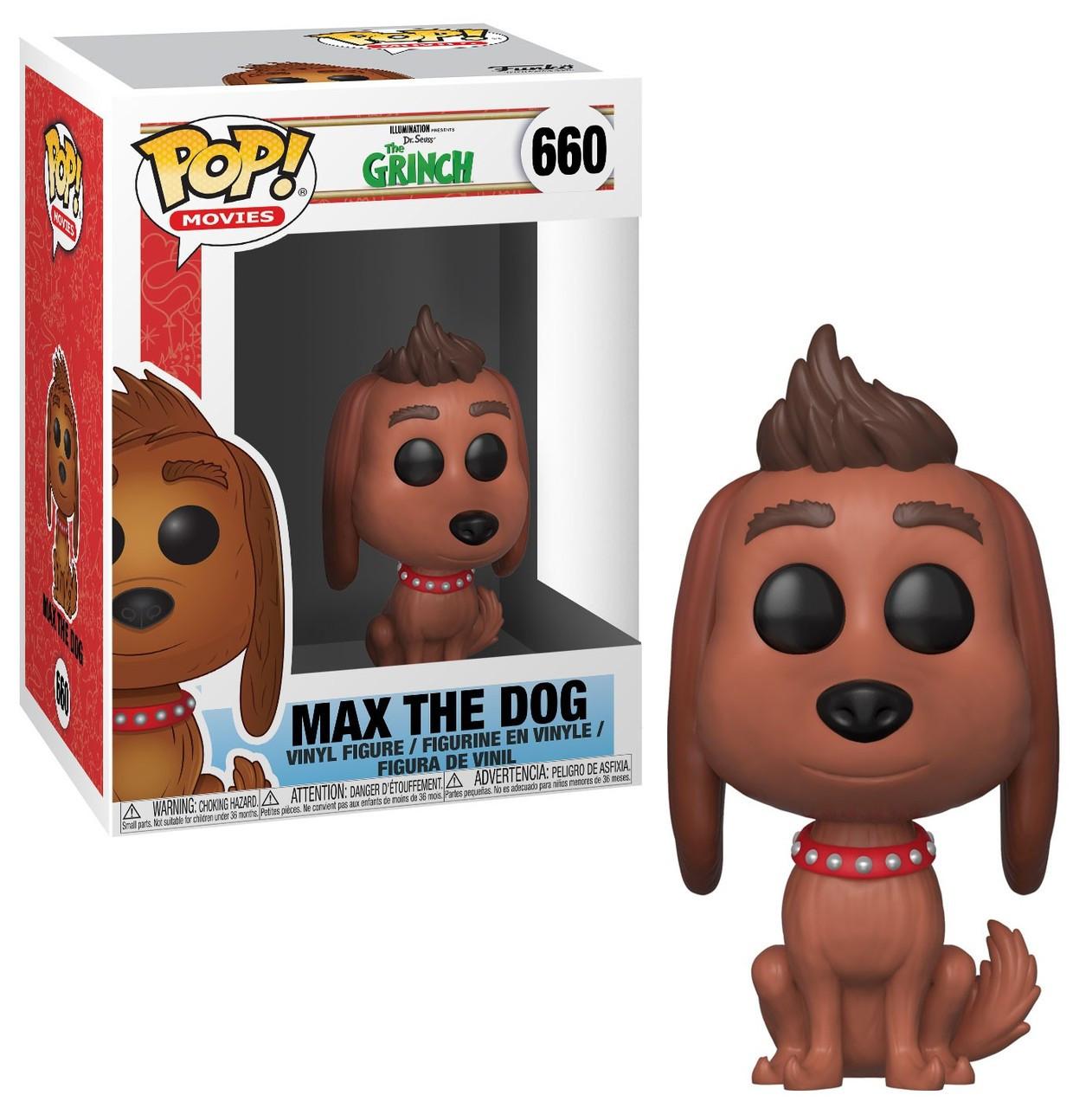 fd778e12d74 Funko Dr. Seuss The Grinch Funko POP Movies Max the Dog Vinyl Figure 660 -  ToyWiz