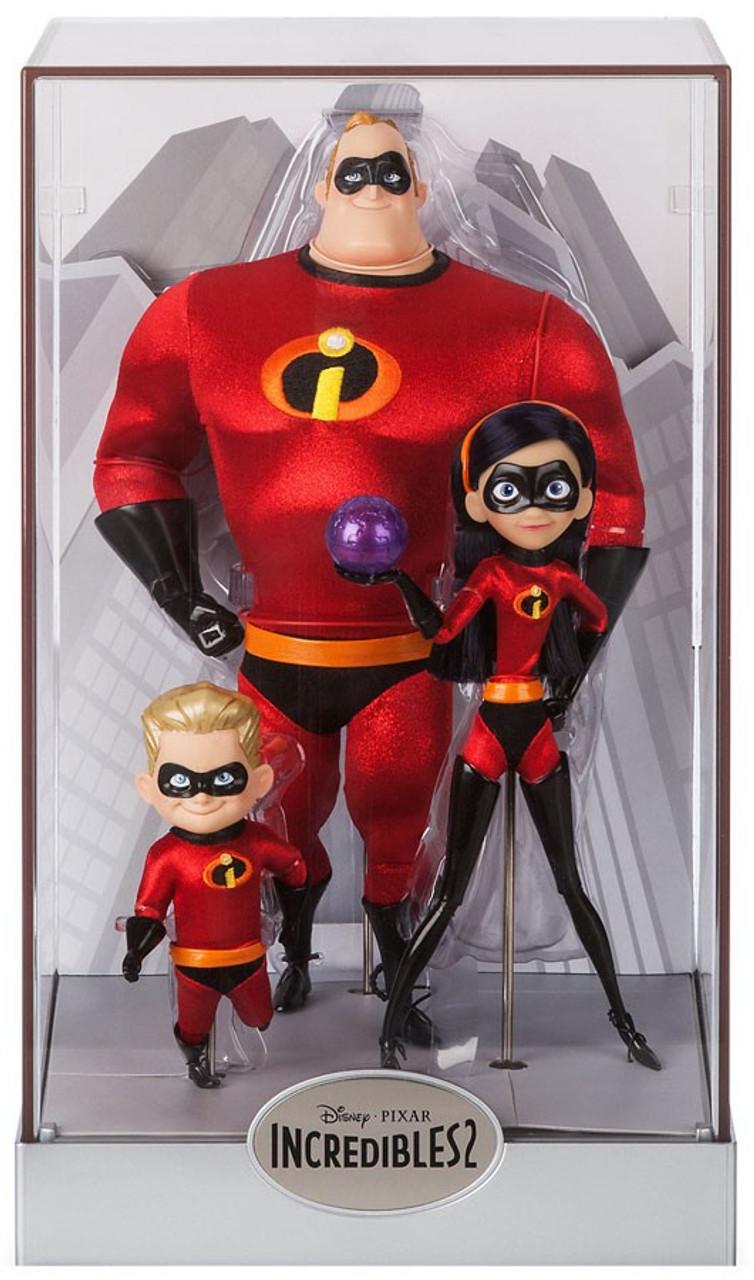 Disney Pixar Generations Designer Collection Pixar Animation Studios Series Mr Incredible Violet Dash Exclusive Doll Set Toywiz