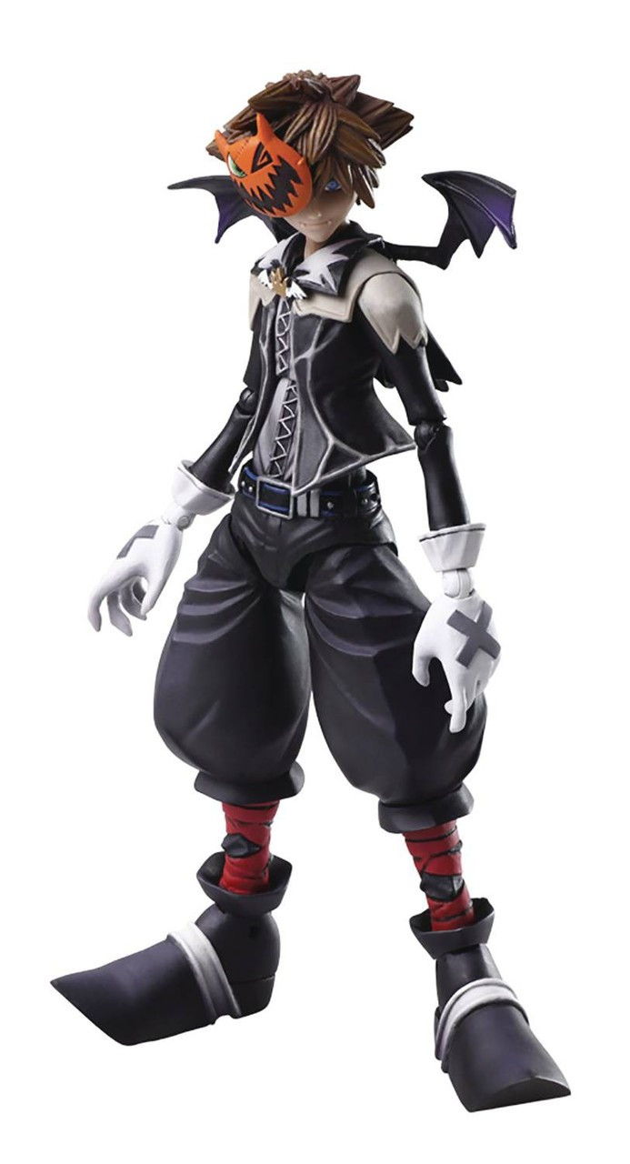 Nightmare Before Christmas Sora.Disney Kingdom Hearts Ii Bring Arts Sora Action Figure Halloween Town Version