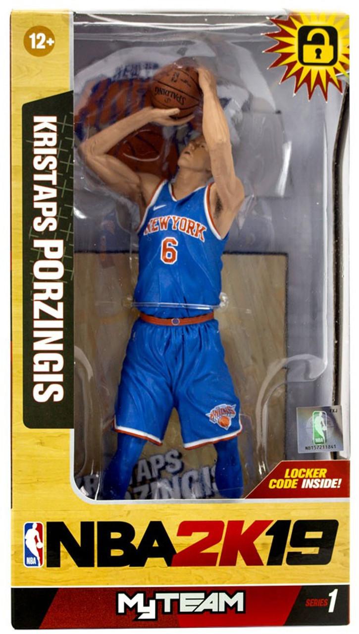 972e4569ffa0 McFarlane Toys NBA New York Knicks NBA 2K19 MyTeam Series 1 Kristaps  Porzingis Action Figure - ToyWiz