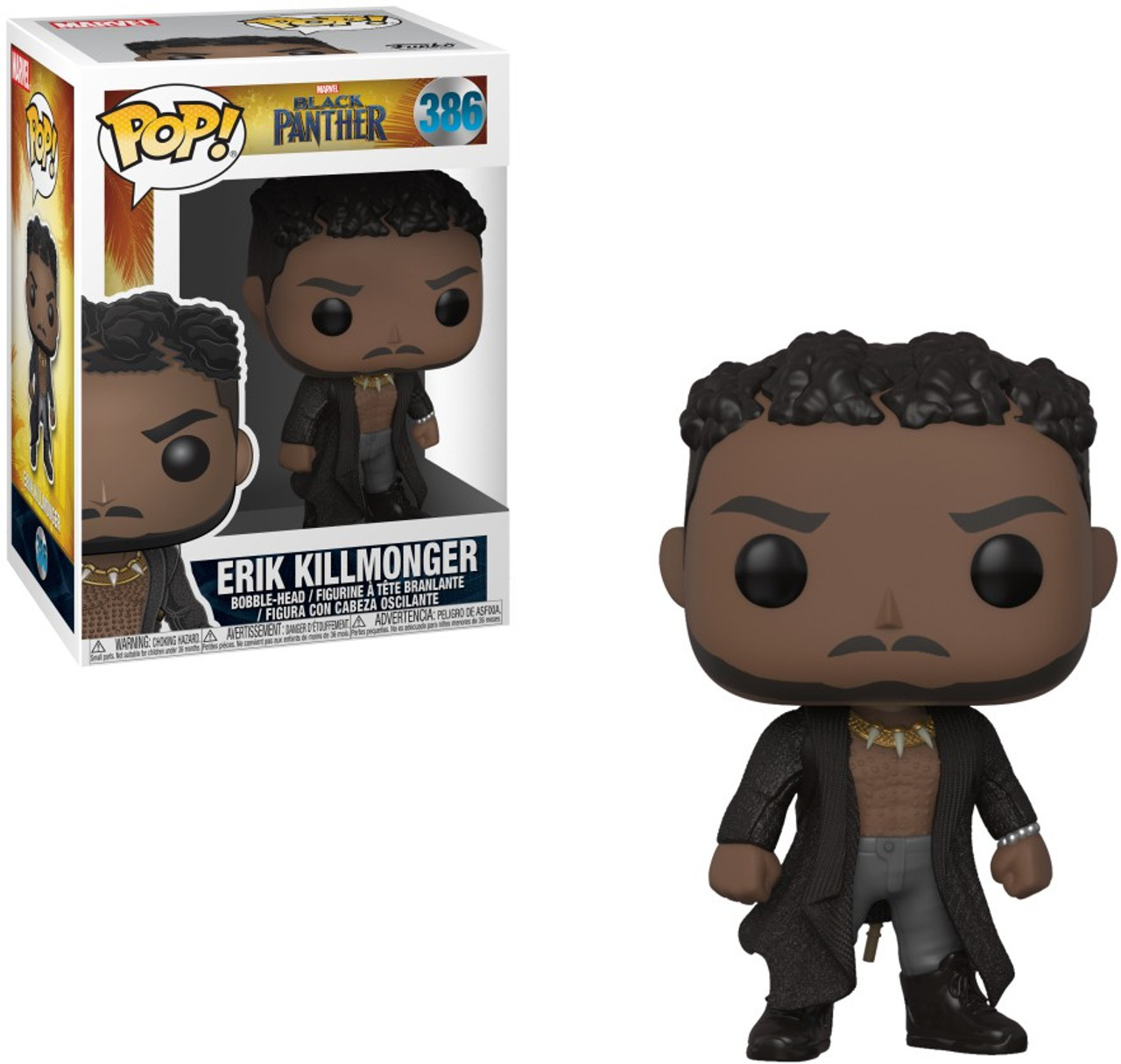 9a945b27159 Funko Marvel Universe Black Panther Funko POP Marvel Erik Killmonger 3.75 Vinyl  Figure 386 with Scars