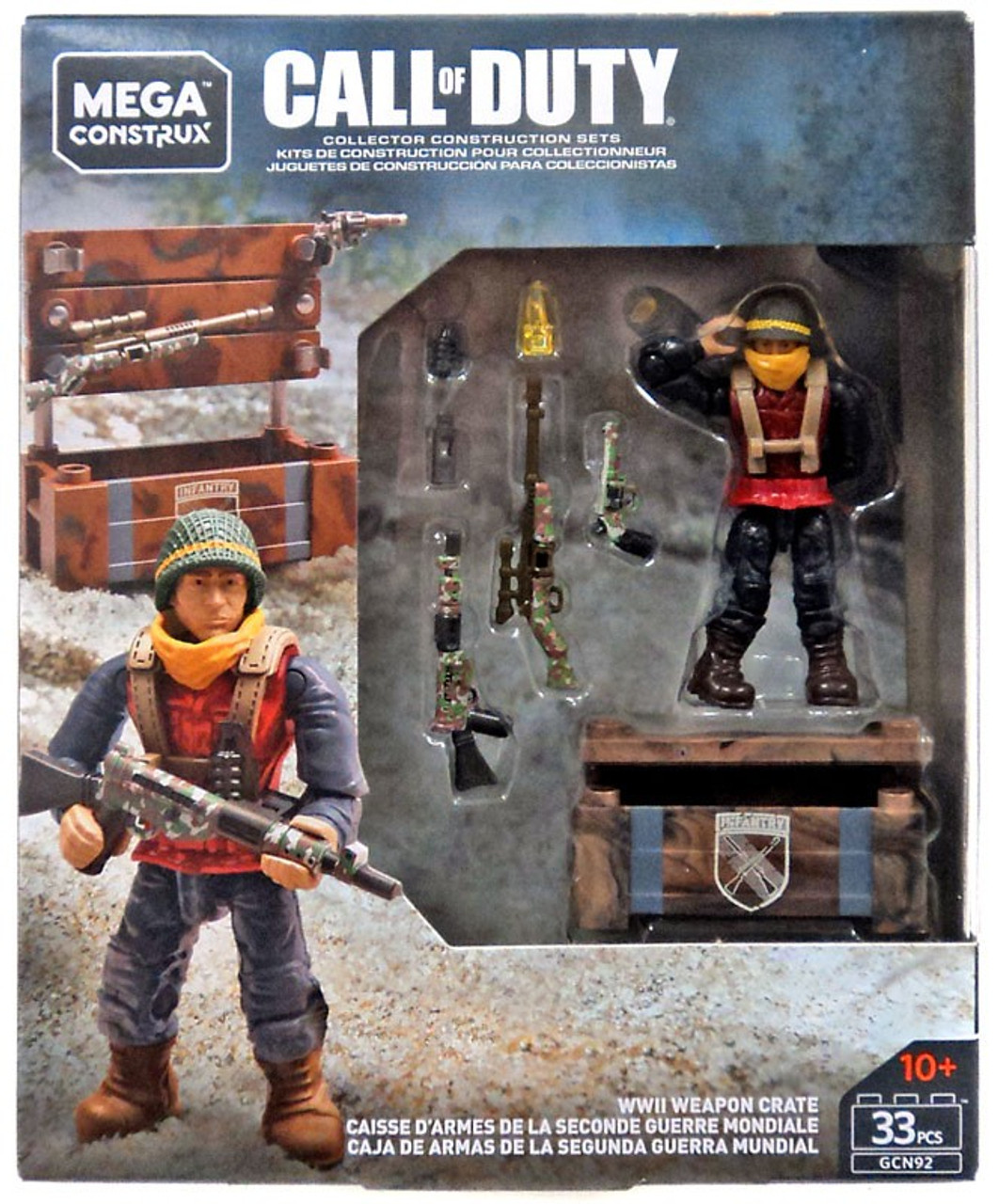 WWII Weapon Crate NEW Mega Construx Call Of Duty Lot of 2 Assault Weapon Crate