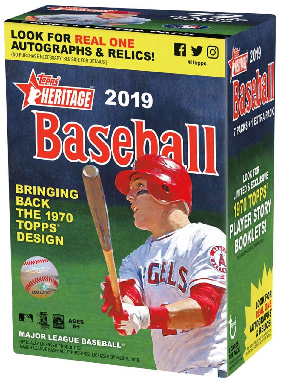 Mlb 2019 Topps Heritage Baseball Trading Card Blaster Case