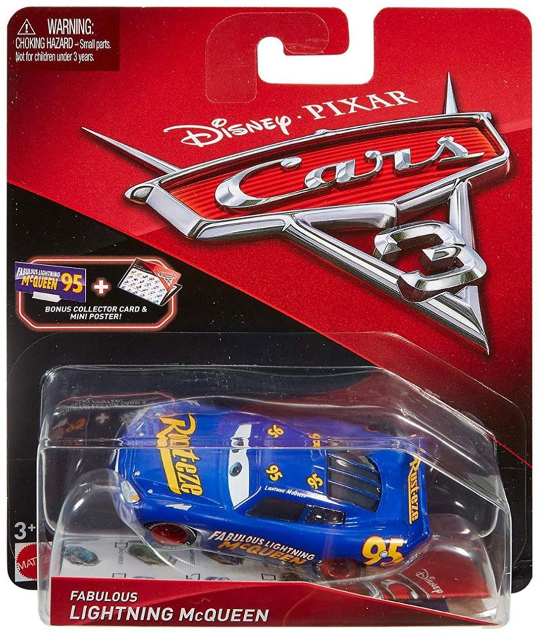 Bonus Collector Card Cars 3 DISNEY CARS DIECAST Fabulous Lightning McQueen