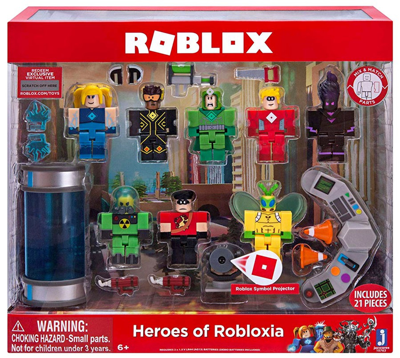 Roblox Heroes Of Robloxia 3 Action Figure 8 Pack Jazwares Toywiz