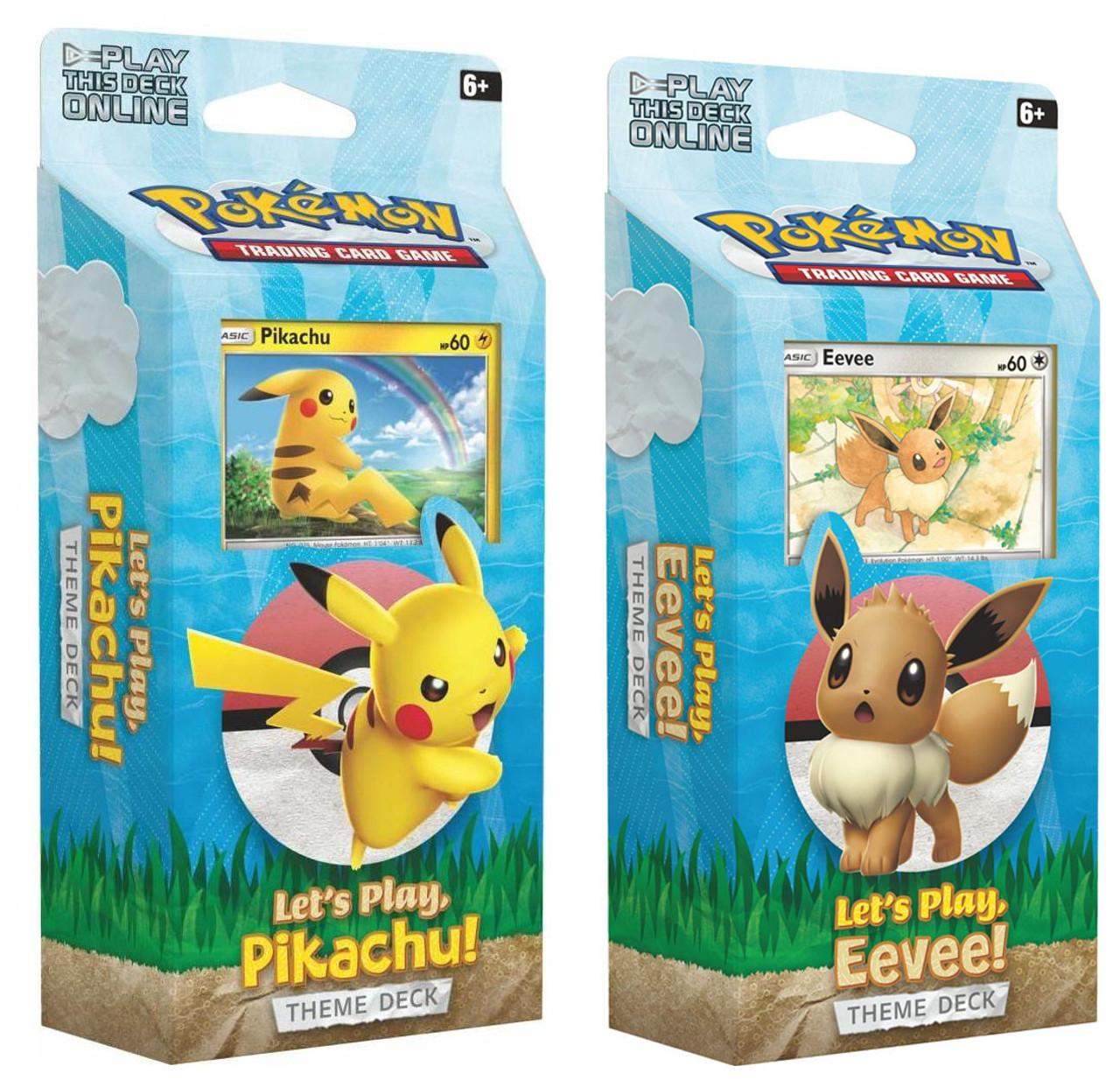 Pokemon Trading Card Game Sun Moon Lets Play Eevee Pikachu Set Of