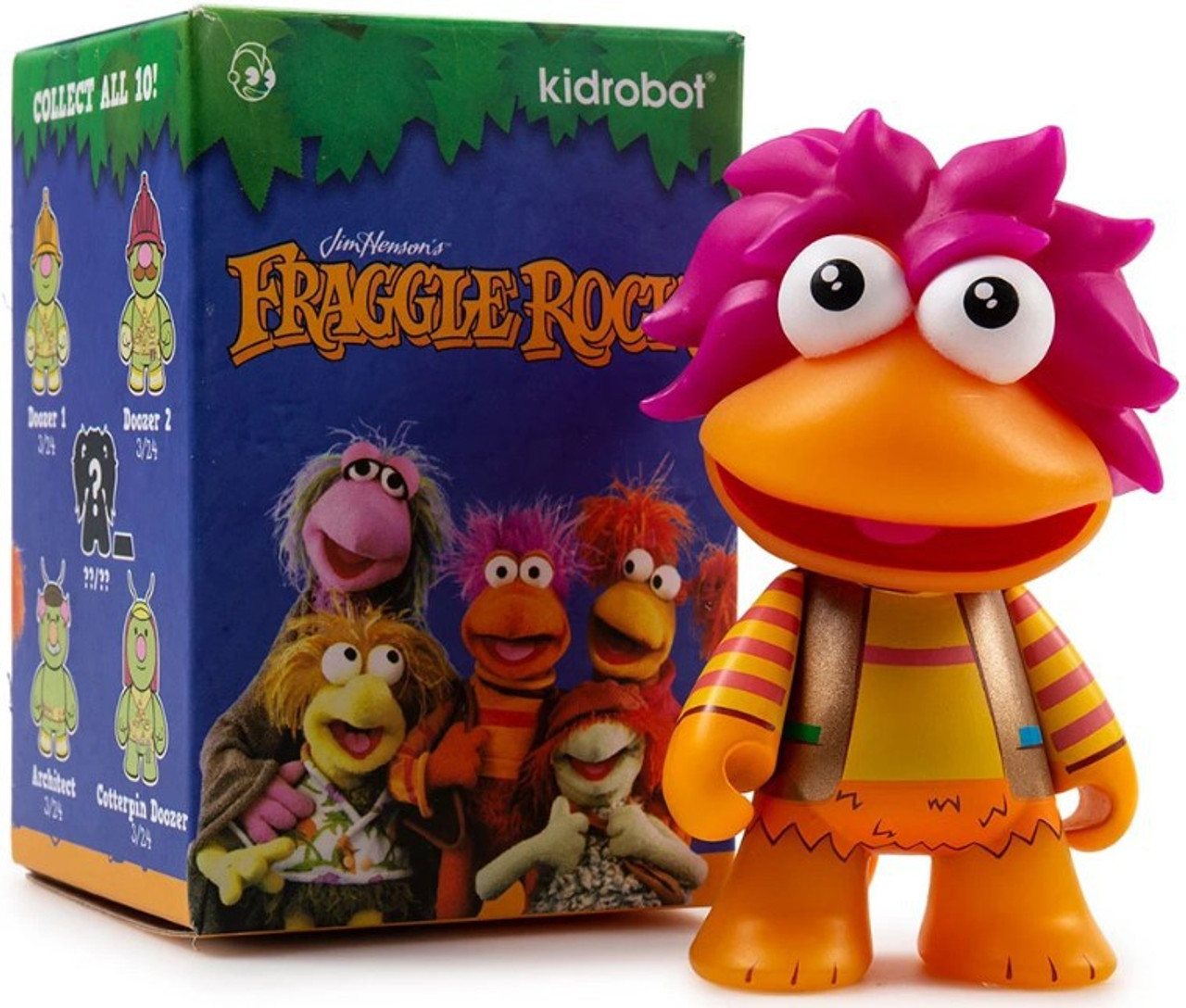 Kidrobot FRAGGLE ROCK Mini Series DOOZER 1 Vinyl Figure Opened Blind Box