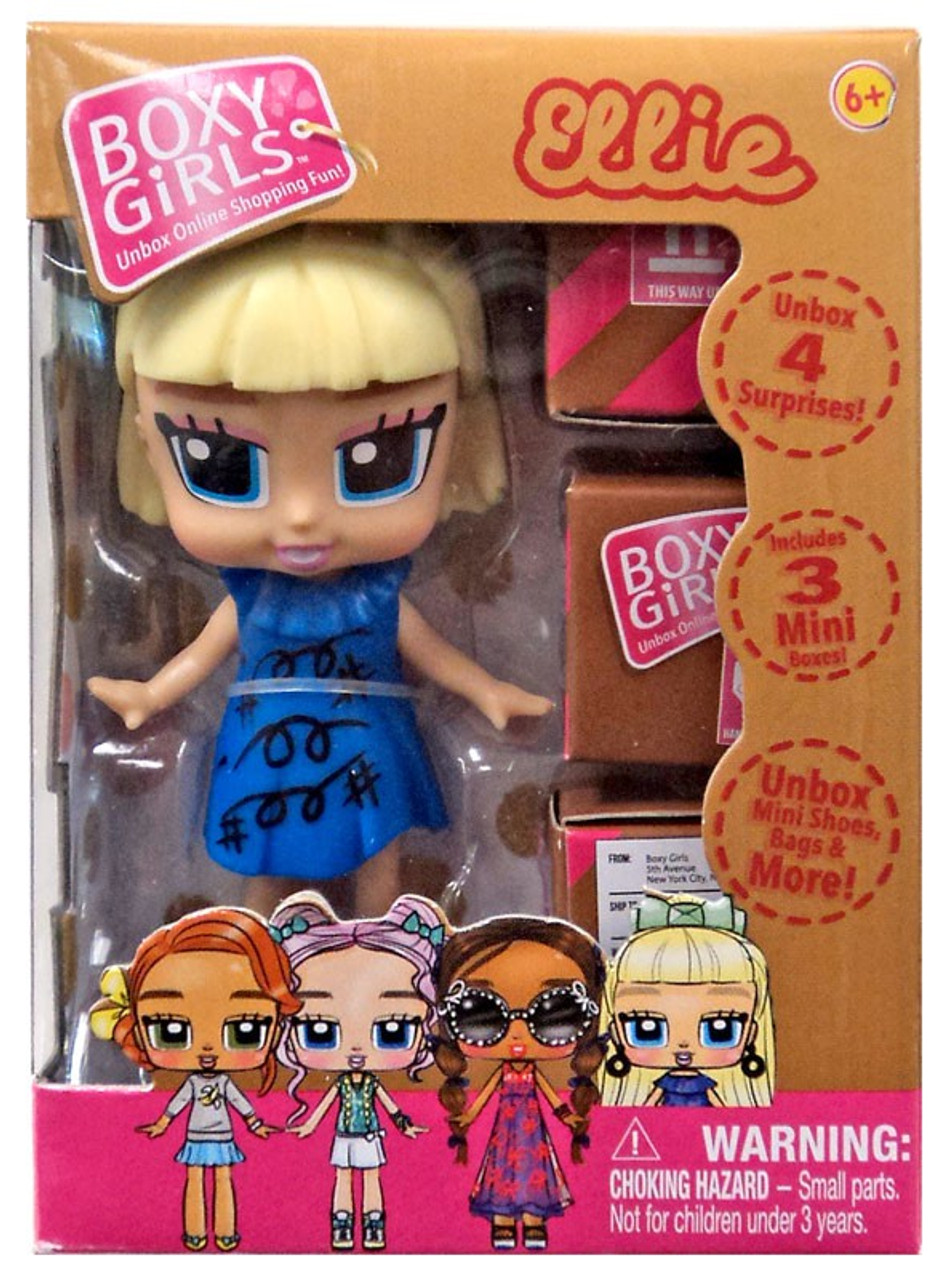 3 Pk BOXY GIRLS Ellie Coco Lina MINI DOLL WITH SURPRISE BOX 3 Mini Boxes NEW!