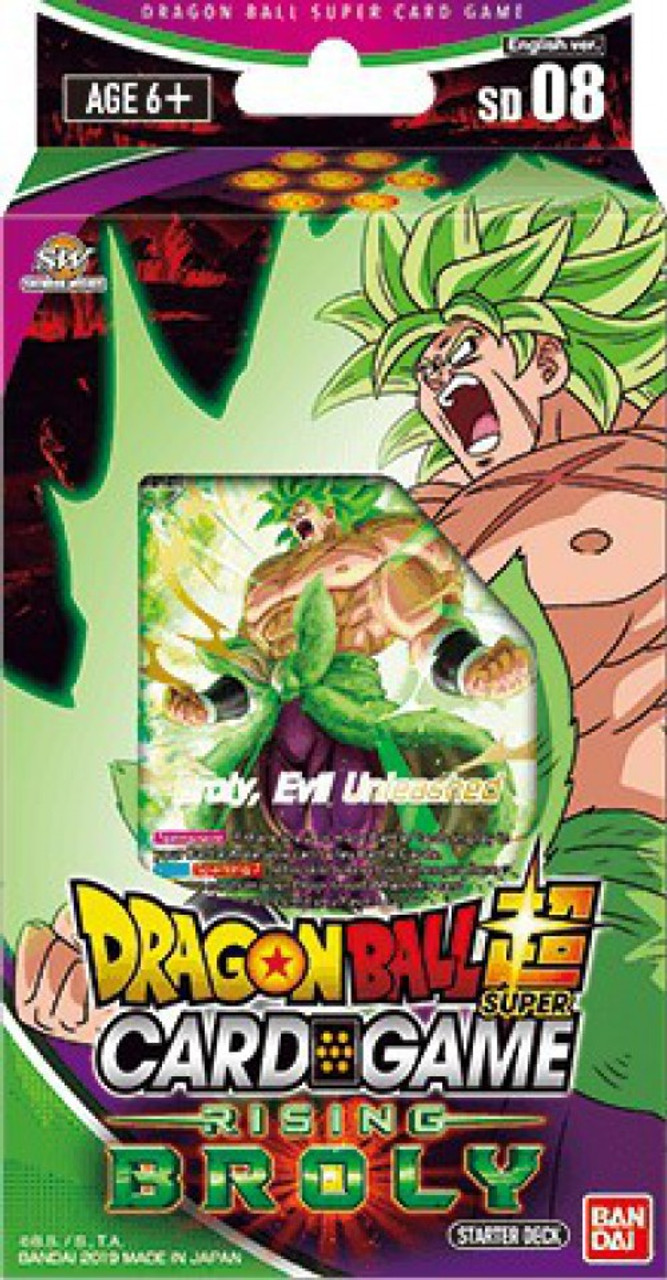 Dragon Ball Super Collectible Card Game Destroyer Kings Series 6 Rising Broly Starter Deck Dbs Sd08