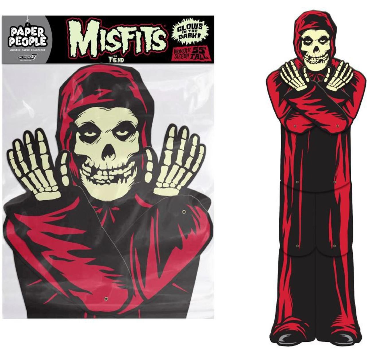 The Misfits Skull Red Fiend Super 7 Halloween Plastic Bucket Superbucket
