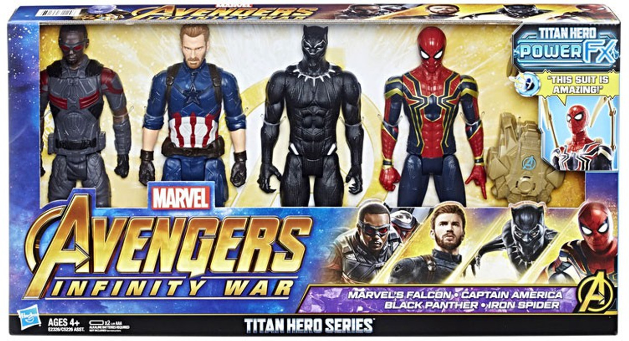 NEW Collection Marvel Avengers Titan Hero Series 5 Pack Capitan America Set