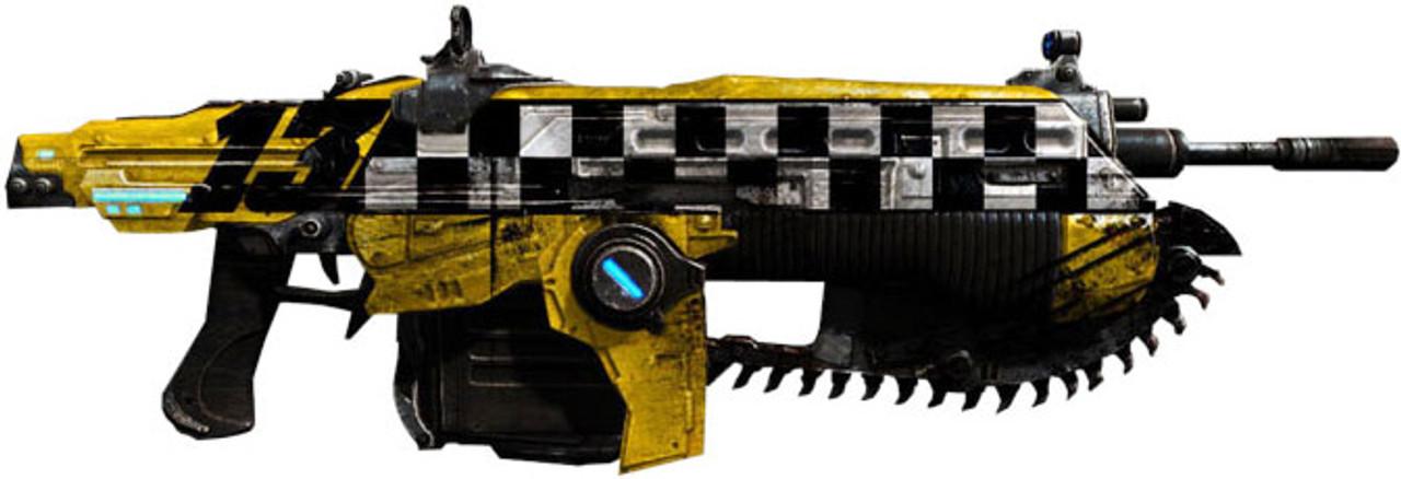 new concept 4117a d5cd6 NECA Gears of War Judgment Lancer 36-Inch Prop Replica [Car No. 13]
