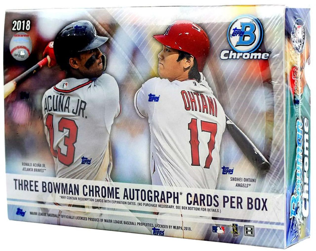 Mlb 2018 Bowman Chrome Baseball Trading Card Hobby Box Hta Choice