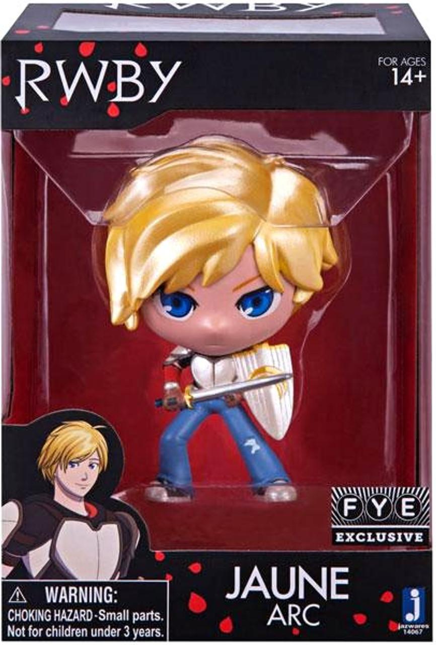 RWBY Jaune Arc Metallic FYE exclusive Vinyl Figure Anime Character Jazwares