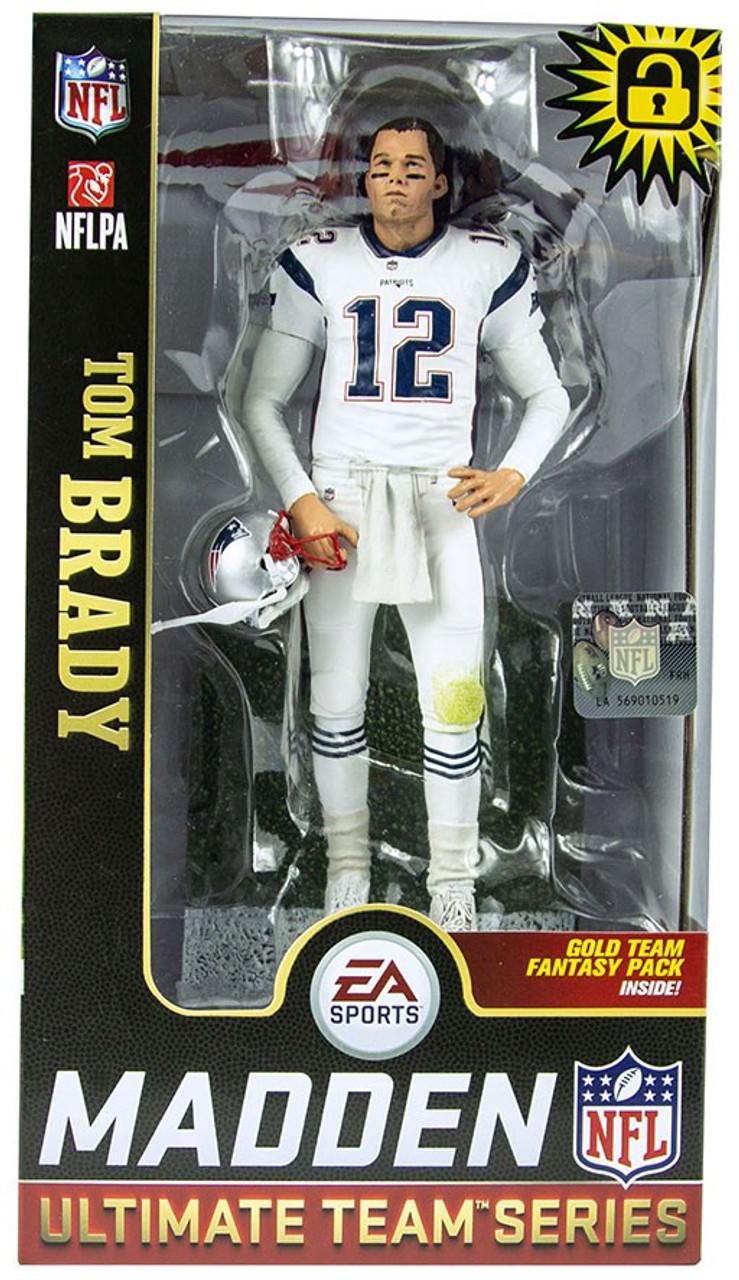 ba83a2e9958 McFarlane Toys NFL New England Patriots EA Sports Madden 19 Ultimate Team  Series 1 Tom Brady Exclusive 7 Action Figure White Uniform - ToyWiz