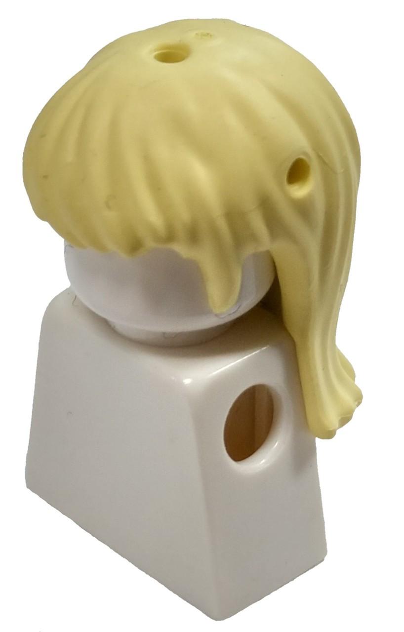 Lego 1 Hair Wig For Female Girl Minifigure  Long Straight Orange