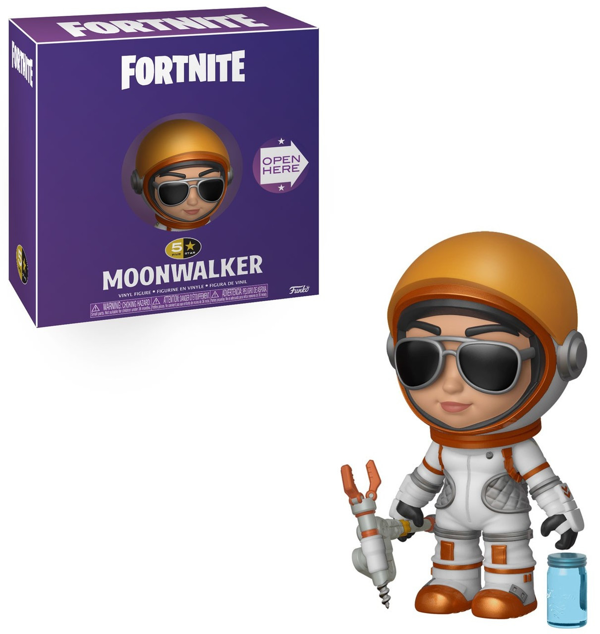 6888c95b124 Funko Fortnite Funko 5 Star Moonwalker Vinyl Figure With Slurp Juice -  ToyWiz