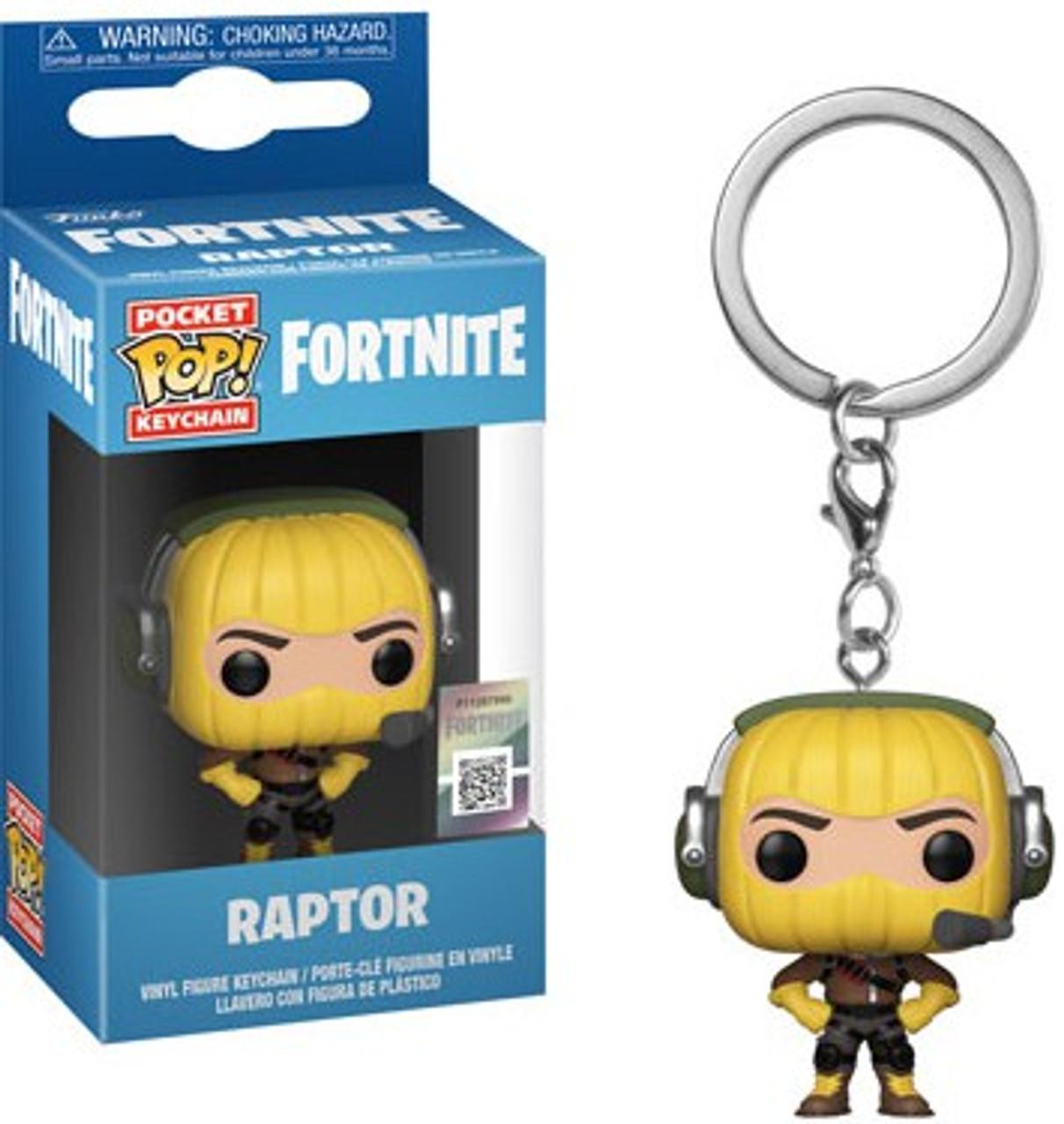 0637485f53f Funko Fortnite Pocket POP Games Raptor Keychain - ToyWiz