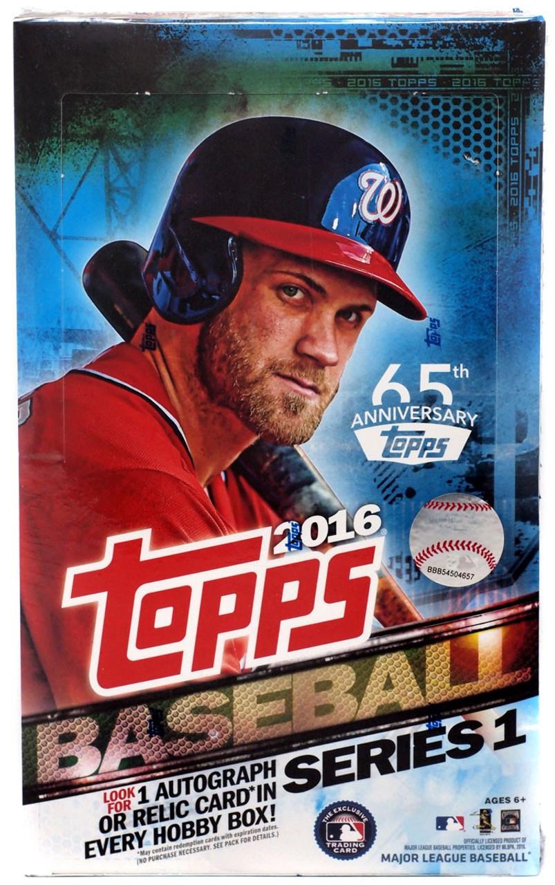 Mlb 2016 Topps Baseball Cards Series 1 Trading Card Hobby Box 36 Packs