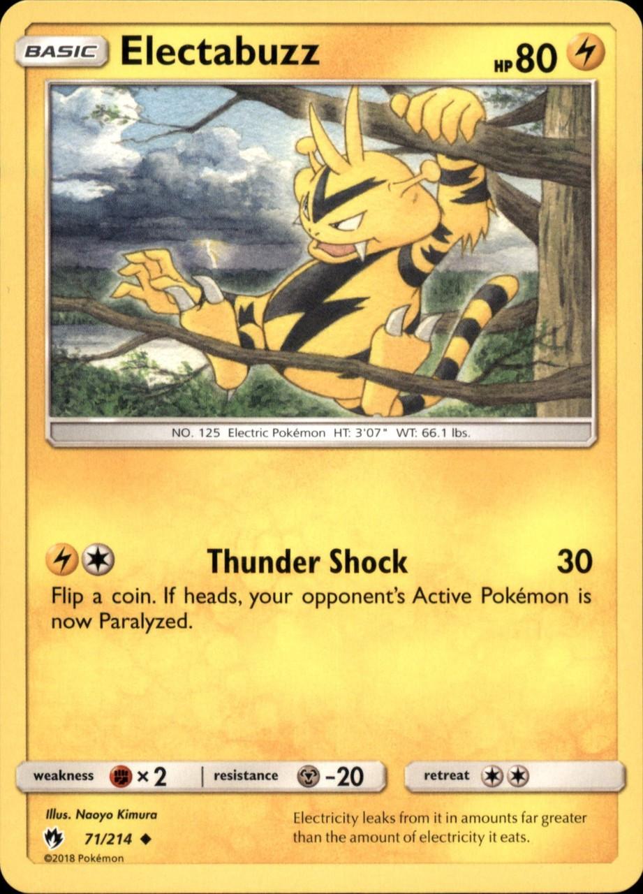 Pokemon Basic Card #41 Electabuzz
