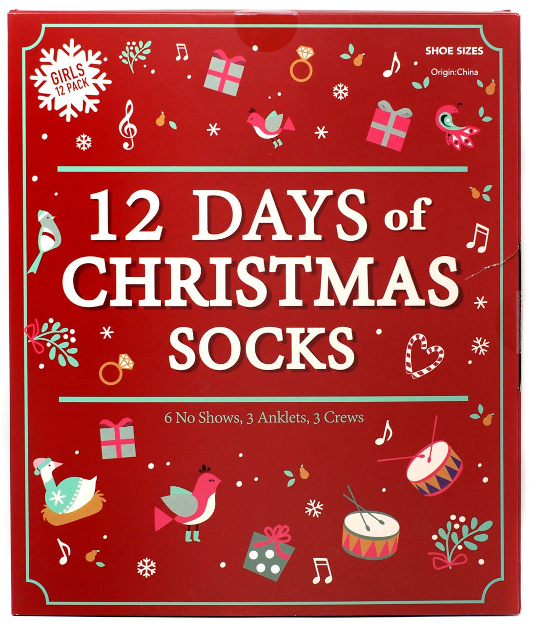 STAR WARS Disney 12 Days Of Socks Kids Size Large Shoe Size 3-10 *Christmas*