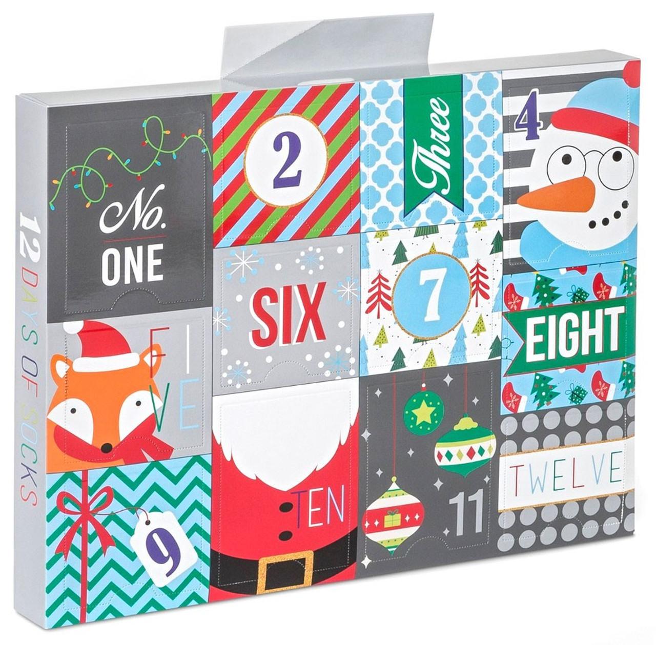 12 Days Of Christmas Socks.Boys 12 Days Of Socks 12 Pack Shoe Size 9 2 5