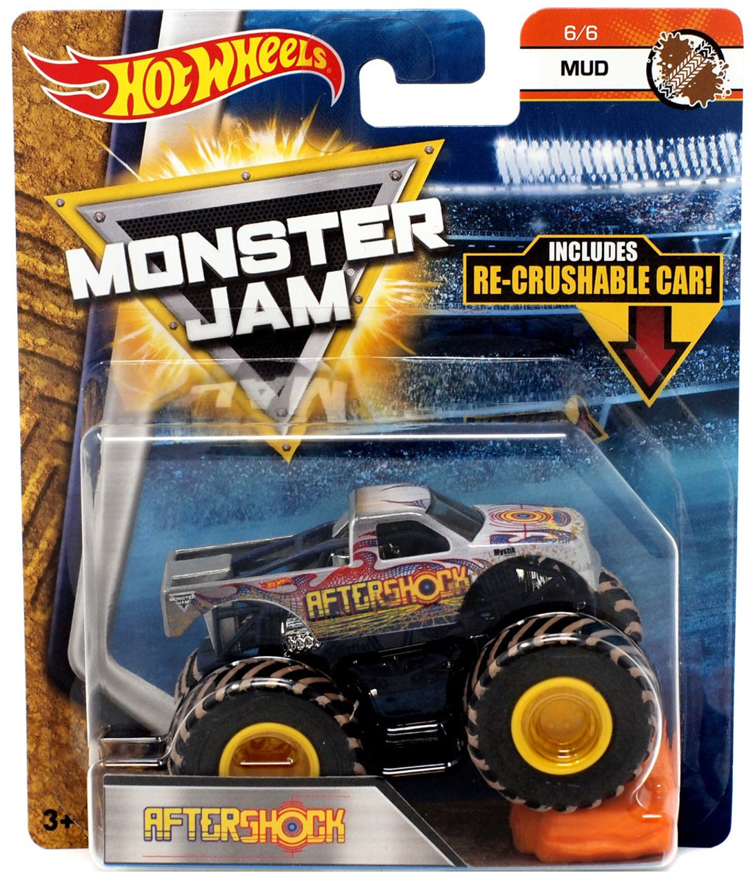 Hot Wheels Monster Jam Aftershock 164 Die Cast Car 66 Mud Mattel