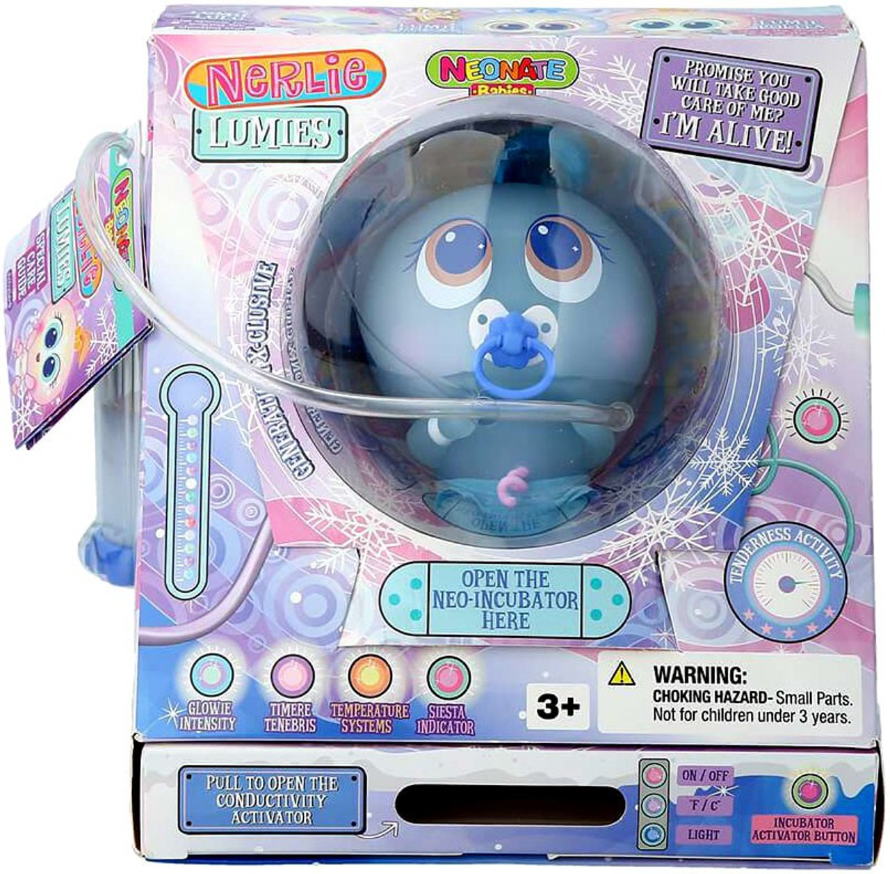Distroller Baby Lumies Nerlie Neonate Babies Blue Doll Lumie Lucas