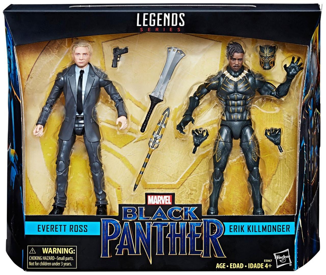 Marvel Legends Series Black Panther 2 Pack Everett Ross /& Erik Killmonger