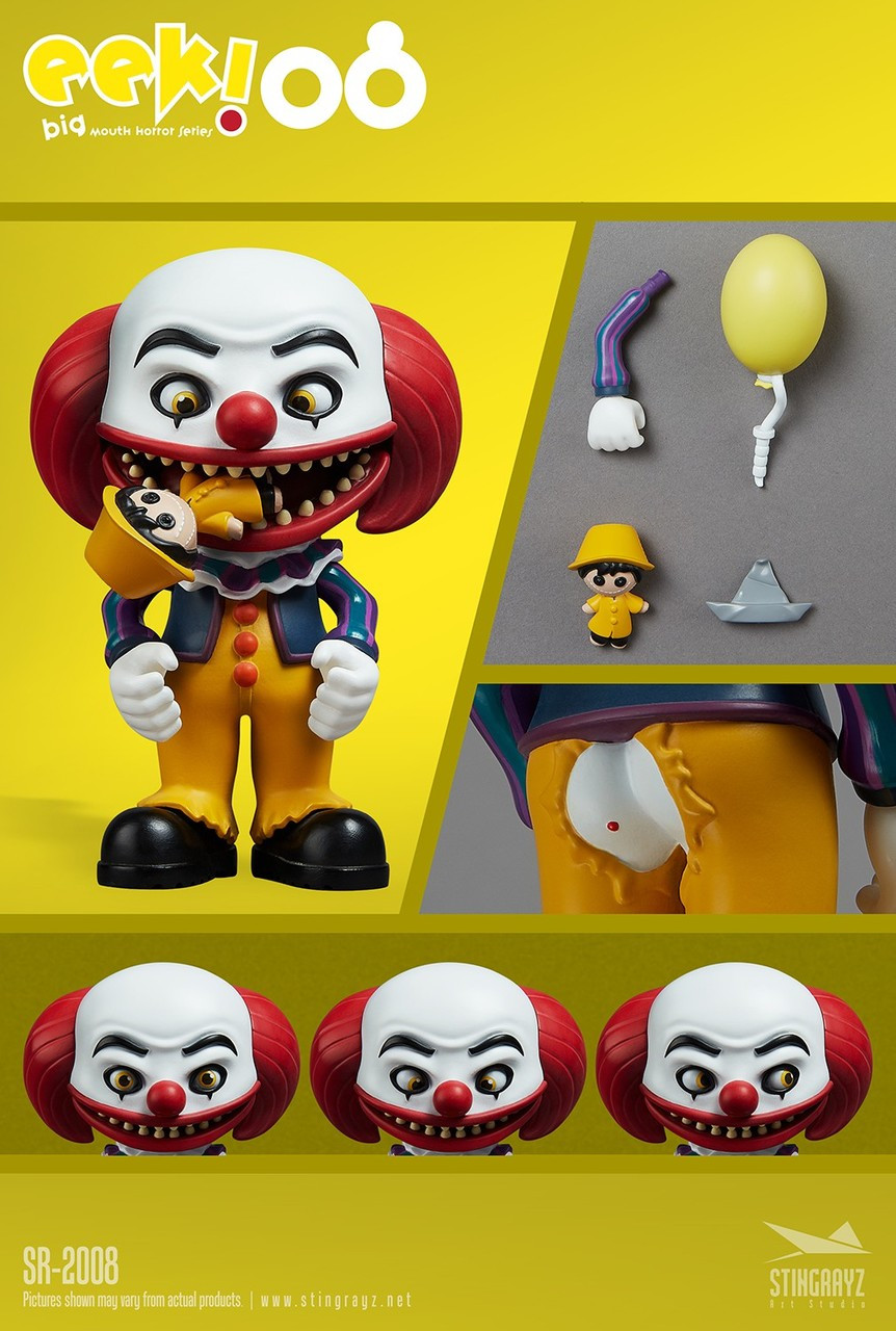 Stingrayz EEK! IT Pennywise 4.5-Inch Collectible Figure SR-2008 [1990] (Pre-Order ships March)