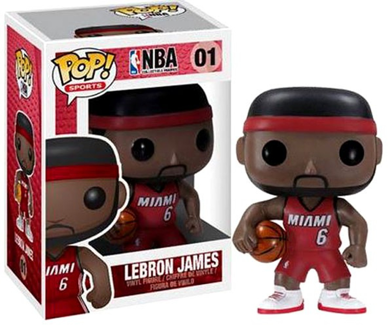 Funko NBA Miami Heat Funko POP Sports LeBron James Vinyl Figure 01 Red  Uniform 9180cd880