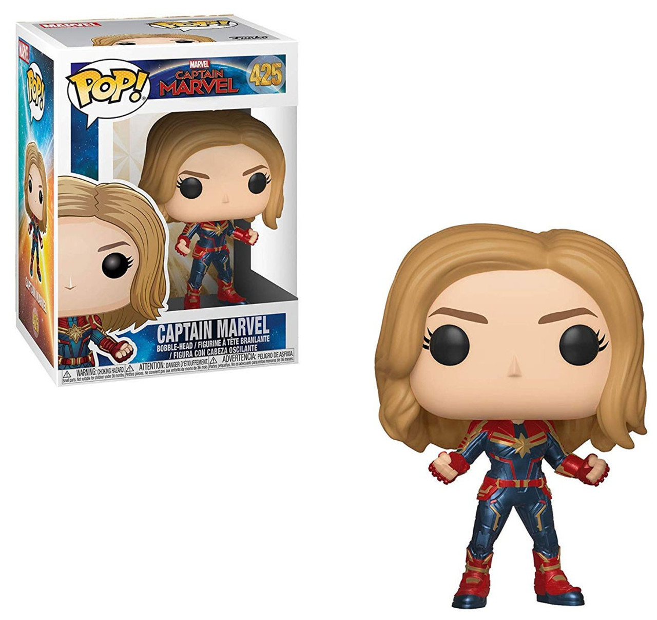 Marvel Captain Marvel-Captain Marvel masqué Chase Bobblehead Funko Pop